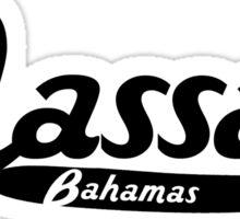 Nassau Bahamas Vintage Logo Sticker