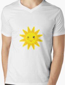 Smiling sun Mens V-Neck T-Shirt