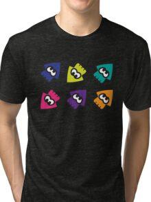 Splatoon-style Squids Tri-blend T-Shirt