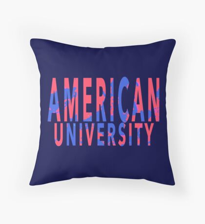 American University Throw Pillow