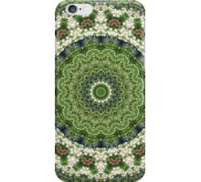 Green and White Farmers' Market  Mandala iPhone Case/Skin