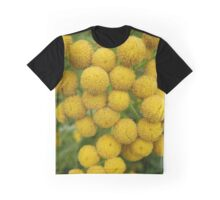 Yellow Puff Flowers Graphic T-Shirt