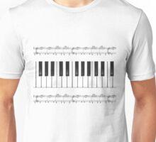 piano keys music Unisex T-Shirt