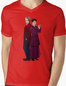 Missy and The Doctor Mens V-Neck T-Shirt