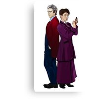 Missy and The Doctor Canvas Print