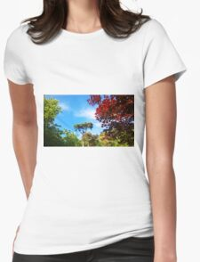Trees in the Backyard Womens Fitted T-Shirt