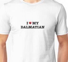 I Heart My Dalmatian Unisex T-Shirt