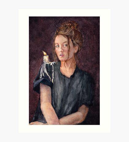 Zoe Alexandra watercolour painting by Paris Lomé Art Print