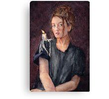 Zoe Alexandra watercolour painting by Paris Lomé Canvas Print