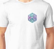 D20 turquoise/purple blend Unisex T-Shirt
