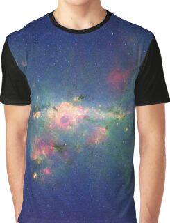 """Metropolitan"" Milky Way Galaxy Graphic T-Shirt"