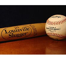 Louisville Slugger and MLB Ball Photographic Print