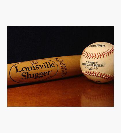 Louisville Slugger and MLB Ball Photographic Print