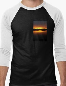 Boat Silhouette Men's Baseball ¾ T-Shirt