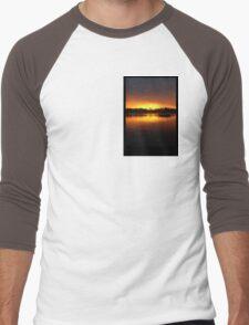 Boat Silhouette Men's Baseball ¾ T-Shirt