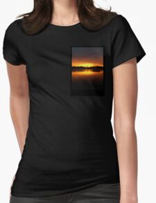 Boat Silhouette Womens Fitted T-Shirt