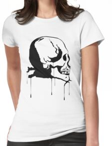 Splatter Skull 2 (black) Womens Fitted T-Shirt