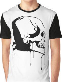 Splatter Skull 2 (black) Graphic T-Shirt