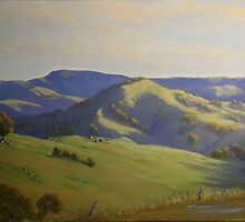 Warrigal after Spring Rain - Oil Painting by Alison Murphy