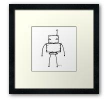 Full Stop the robot Framed Print