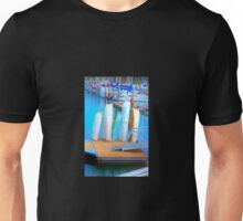 Boats in Surrealism Unisex T-Shirt