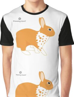 Blanket Brocken Rabbit, Orange Graphic T-Shirt