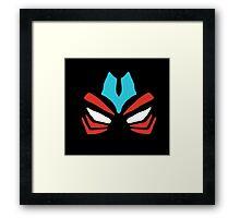 Fierce Deity Mask Framed Print