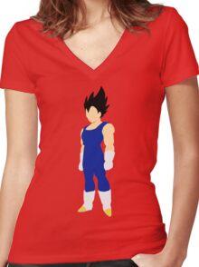 Vegeta minimalist Women's Fitted V-Neck T-Shirt