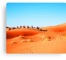 On The Road. On The Sand. Canvas Print