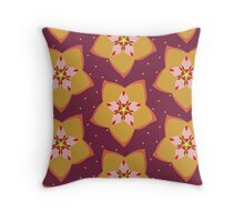 Hoya Gold Throw Pillow