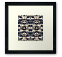 Horizontal Forest Diamond Stripes Framed Print