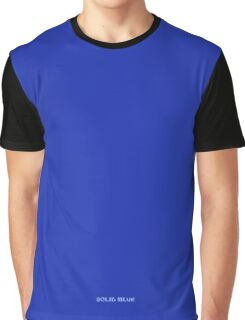 Solid Plain Blue T-Shirt - Mens and Womens Clothing Graphic T-Shirt