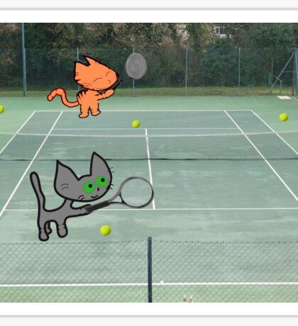 Tennis Cats Sticker