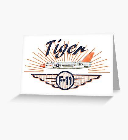 Tiger F-11 Greeting Card