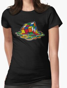 Big Bang theory - Rubik's cube Womens Fitted T-Shirt