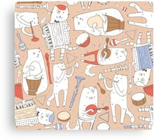 Cats band Canvas Print