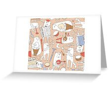 Cats band Greeting Card