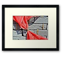 Red And Grey  Framed Print