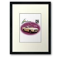 Volvo P1800S Coupe (best on black) Framed Print