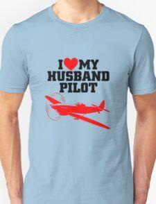 I love my Husband Pilot Unisex T-Shirt