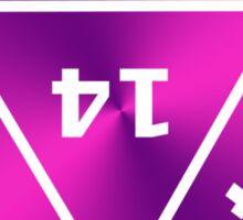 D20 Pink/Purple Sticker