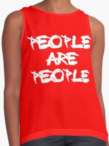 People Are People Contrast Tank