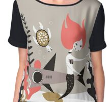 Underwater Whimsy Chiffon Top