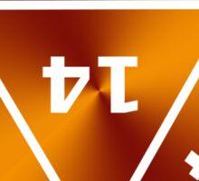 D20 Red/Orange Sticker