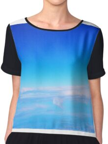 From the plane ...  flying to Melbourne from Ballina NSW Australia Chiffon Top