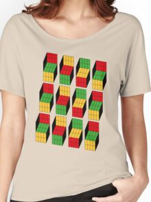 Sheldon Cooper - Rubik's Cube optical illusion | Ilusión óptica del cubo de Rubik Women's Relaxed Fit T-Shirt