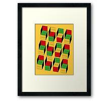 Sheldon Cooper - Rubik's Cube optical illusion | Ilusión óptica del cubo de Rubik Framed Print
