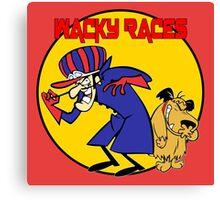 Wacky Races Cartoon Canvas Print