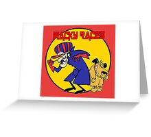 Wacky Races Cartoon Greeting Card