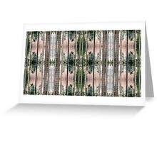Pine Forest Pin Stripes Greeting Card